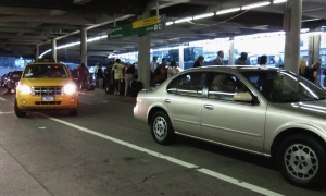 Waiting for a taxi at JFK