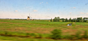 Windmill as seen from the InterCity train