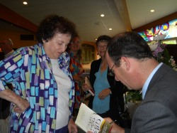 "Dr. Joel M. Hoffman signing copies of ""And God Said"""